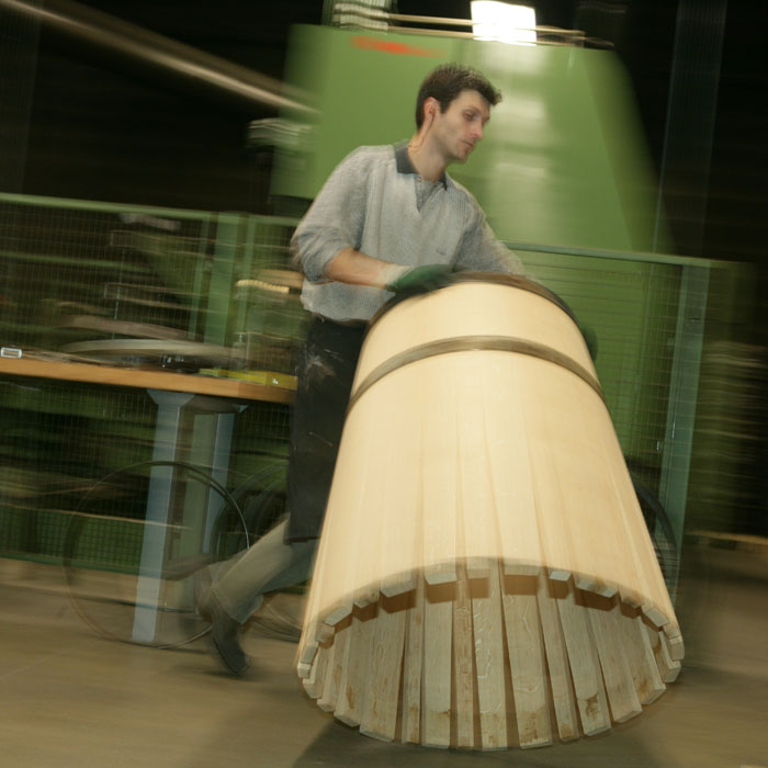 An image of the traditional Dargaud & Jaegle technique in barrels production